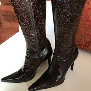 Stunning Italian Leather Hand Made Boots!